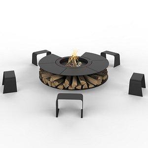 3D model Rocco firepit
