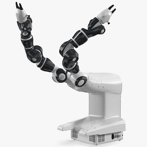 Dual Arm Collaborative Robot Rigged for Cinema 4D 3D
