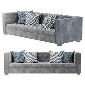 Lola sofa in velvet PBR 3ds max 3D model