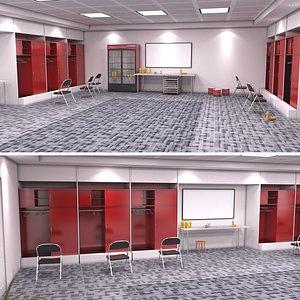 3D model Locker Room 2