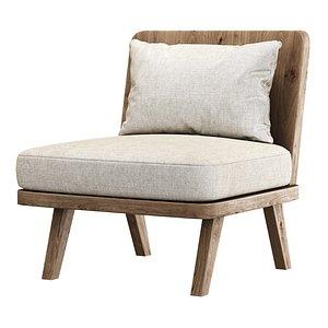 alexa chair wooden 3D model