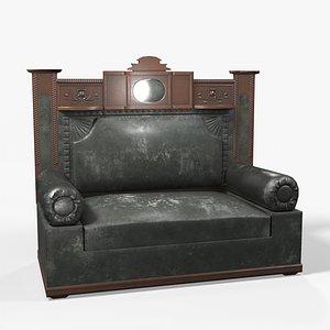 3D ready antique sofa 1930s