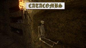 3D model Catacombs unreal asset