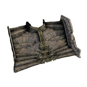3D model Pyramid Temple Wall 04 06