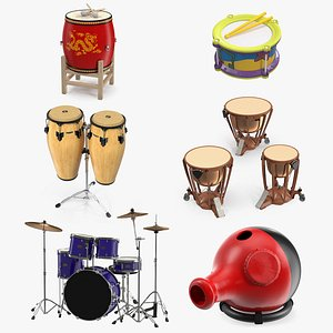 3 chinese drum 3D