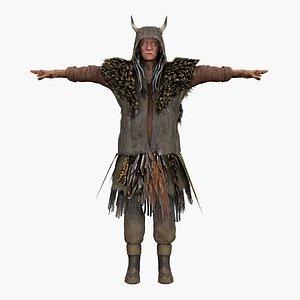 3D viking male