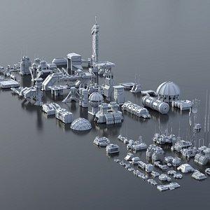 buildings structures 3D model