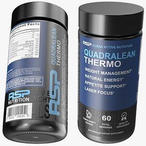 3D model QuadraLean Thermo Fat Burner