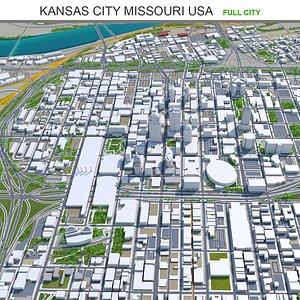 Kansas City Missouri USA 3D model