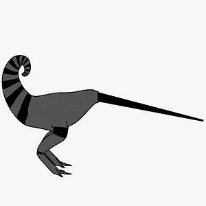 alien bird flightless 3D model
