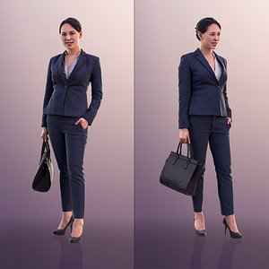 10552 Bao - Business Woman With Hand In Pocket And Purse model