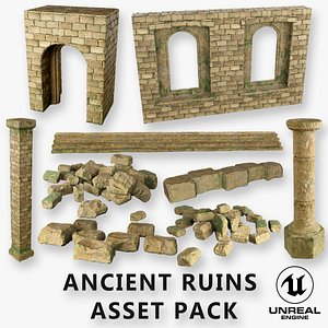 3D Ancient Ruins Game Ready low poly Unreal Engine 4
