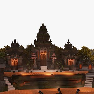 balinese stage 3D model