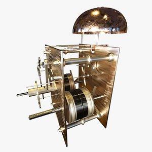 3D striking clock mechanism