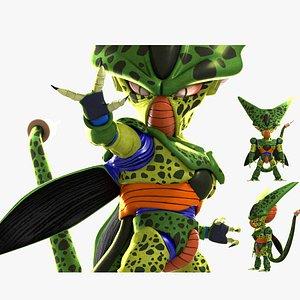 Dragon Ball Sharu  Seru Silu Siru  Seru Q version cartoon Cell 3D model