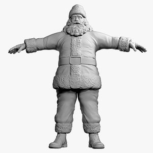 Santa Claus - low to high res 3D model