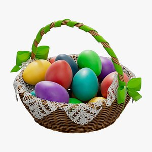 basket easter 3D
