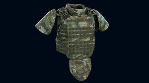 Heavy armor vest 3D model