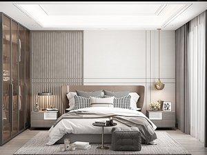Modern Style Bedroom - 621 3D model