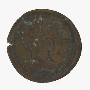 3D Medieval Coin 01 RAW Scan model