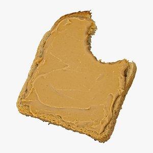toast peanut butter 01 3D