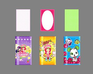 3D Cartoon wet paper wipes model