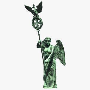 goddess victory statue sculpture 3D