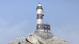 Lighthouse Aniva WithLods model