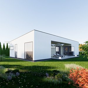 House 7 - Created with fully parametric Revit Families 3D model