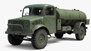 bedford oyc tanker truck 3D model