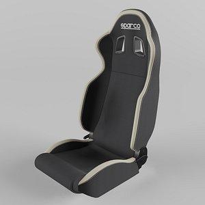 3D model Sparco R100 Sports Racing Seat Fabric  Black-Vinyl