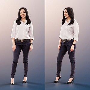 3D woman business standing