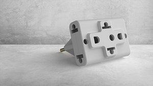 Plug adapter 3D model