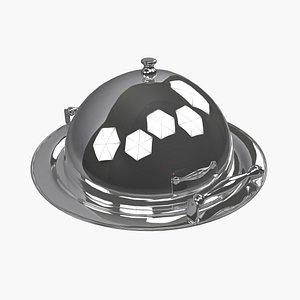 silver dome platter 3D model