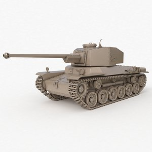 Tank Type 3 Chi Nu Japan Clay Vray 3D model
