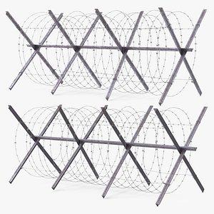 metal barricade makeshift 3D