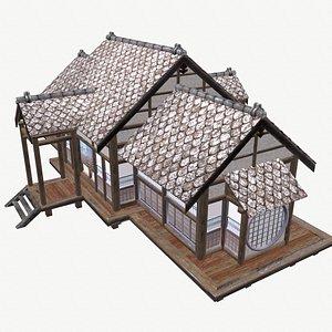 3D Traditional Japanese Okiya House