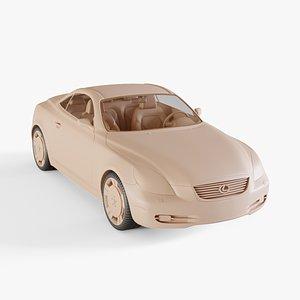 3D model 2007 Lexus SC430