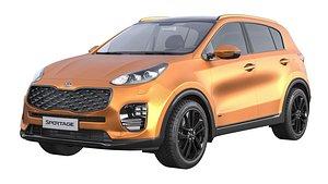 KIA Sportage Orange 3D model