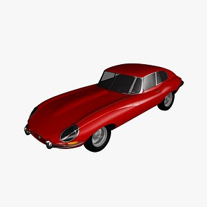 3D model e-type 1962 coupe