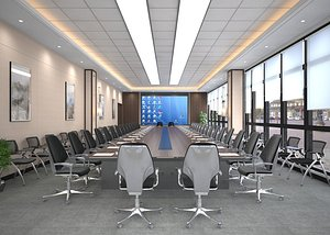 3D Conference room, big conference, lecture hall, lecture hall, multimedia conference room, multimedia