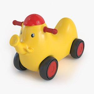 3D model Elephant Car Toy