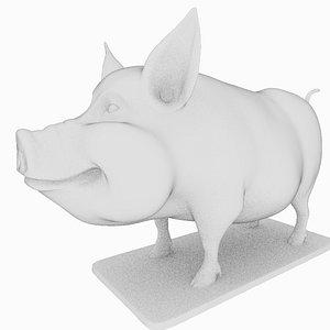 3D Pig Print model