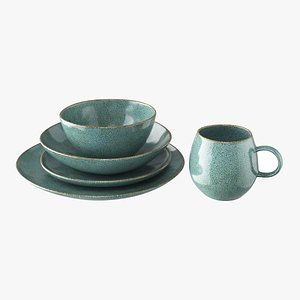 3D olmo tableware turquoise