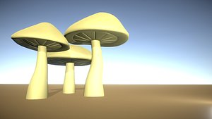 3D mushrooms fungus plants