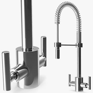 3D model Professional Pullout Kitchen Tap