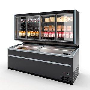 combi fridge atlas 3D model