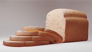 slice bread 3D model