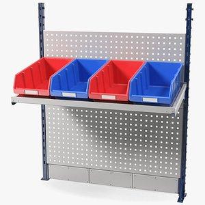 plastic bins kit wall 3D model