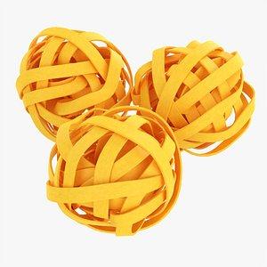 3D Tagliatelle pasta